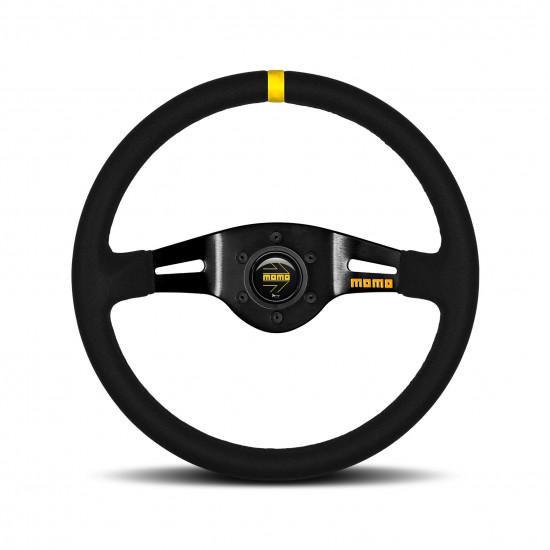 MOMO MOD.03 Steering Wheel - Suede, Black Spoke