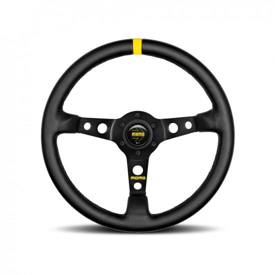 MOMO MOD.07 Steering Wheel - Black Leather