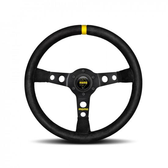 MOMO MOD.07 Steering Wheel - Black Suede