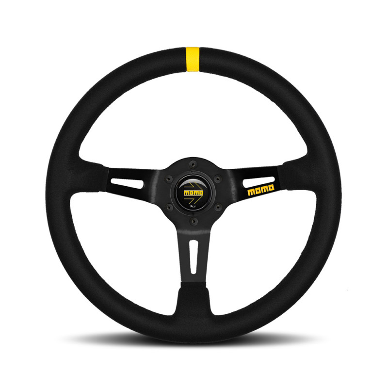 MOMO MOD.08 Steering Wheel - Suede, Black Spoke