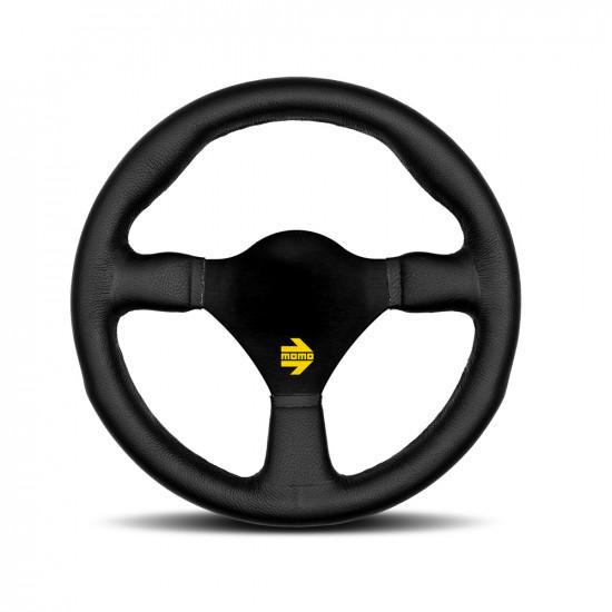 MOMO MOD.26 Steering Wheel - Black Leather