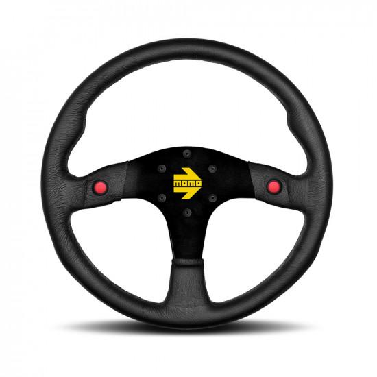 MOMO MOD.80 Steering Wheel - Black Leather