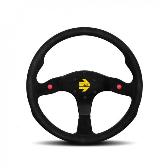 MOMO MOD.80 Steering Wheel - Black Suede