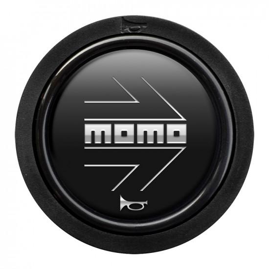 MOMO Horn Button 2 Contact - Arrow Matt Black