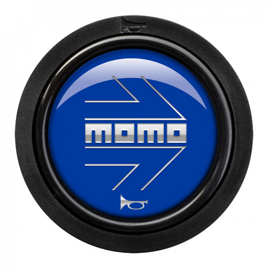 MOMO Horn Button 2 Contact - Arrow Gloss Blue