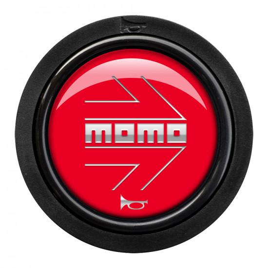 MOMO Horn Button 2 Contact - Arrow Gloss Red