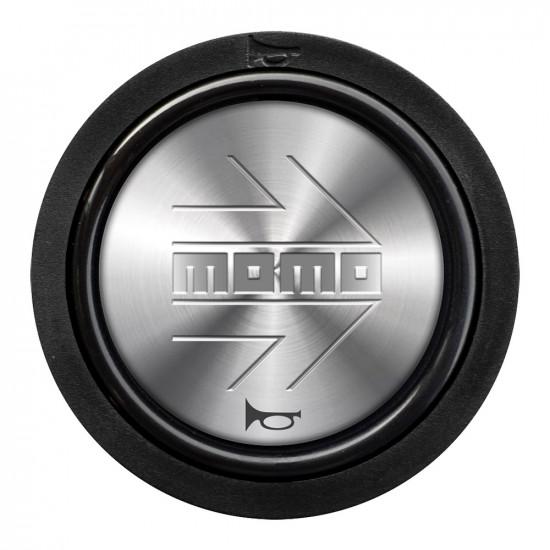 MOMO Horn Button 2 Contact - Silver Arrow Chrome