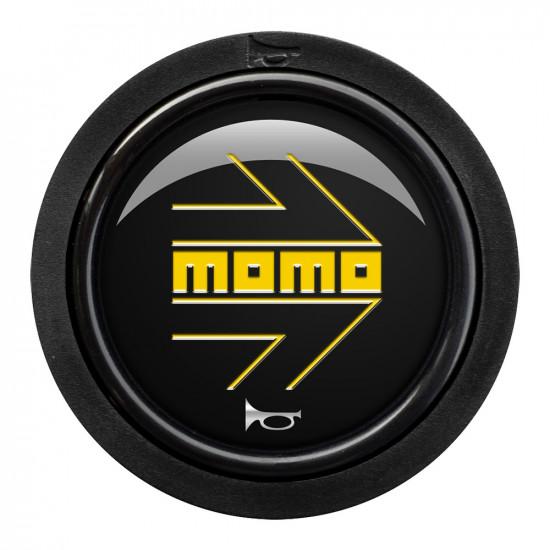 MOMO Horn Button 2 Contact - Arrow Gloss Black