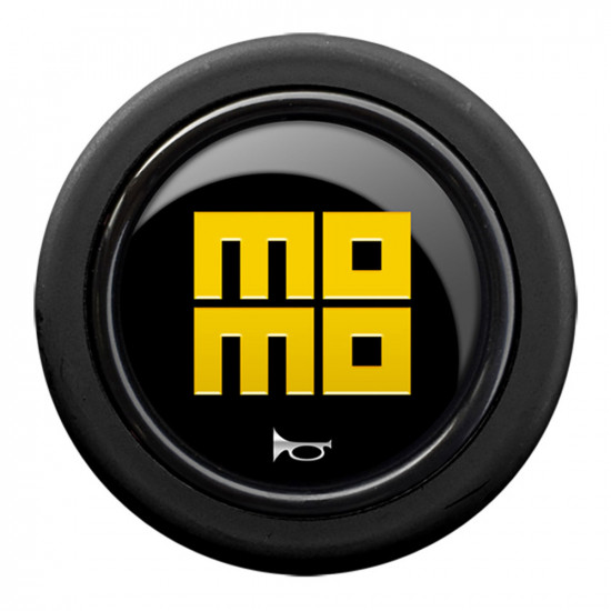 MOMO Standard Horn Button 2 Contact - Heritage Gloss Black