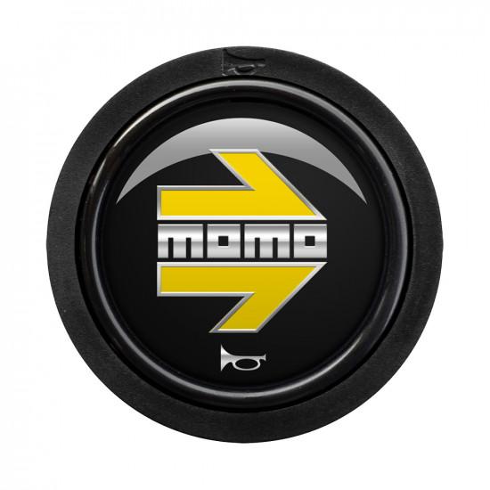 MOMO Standard Horn Button 1 Contact - Arrow Gloss Black